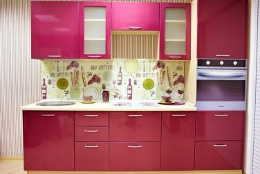 Розовая кухня Россо