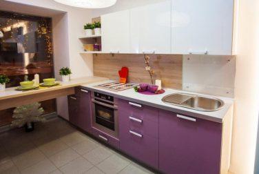 Кухня с пластиковым фасадом Лаванда